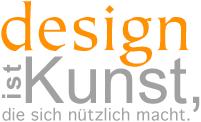 """Slogan """"Design ist Kunst, die sich nützlich macht."""" für das Menü: Corporate Design"""
